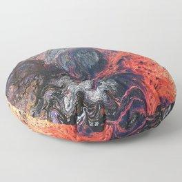 Vivid Crawling Nova Acrylic Pour Floor Pillow