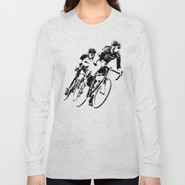 Bicycle racers into the curve... Long Sleeve T-shirt