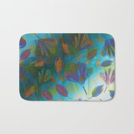 Ginkgo Leaves Under Water Bath Mat