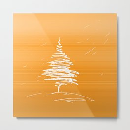 IN.MO - XMAS - ORANGE Metal Print