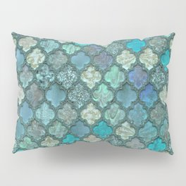 Moroccan Inspired Precious Tile Pattern Pillow Sham