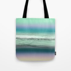 Twilight Sea in Shades of Green and Lavender Tote Bag