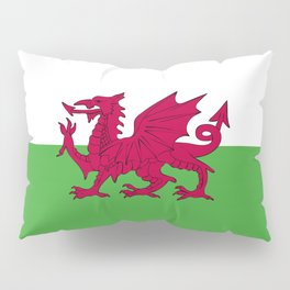 Wales flag emblem Pillow Sham