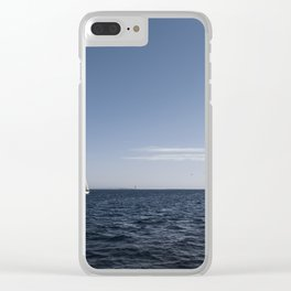 Sailing in the ocean. Clear iPhone Case