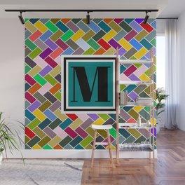 M Monogram Wall Mural