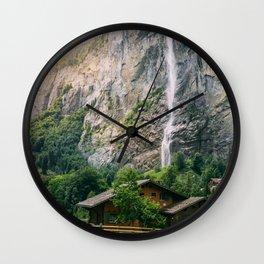 Lauterbrunnen Waterfall Wall Clock