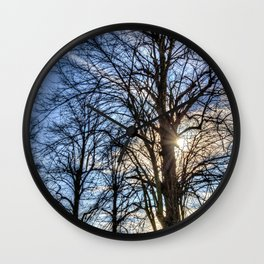 Churchyard Tree  Wall Clock