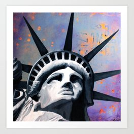 Welcome to New York Statue of Liberty Art Print
