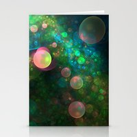 psychadelic Stationery Cards featuring Inner Space by Lyle Hatch