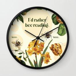 Reading Bee Wall Clock