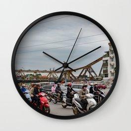 Long Bien Bridge Wall Clock