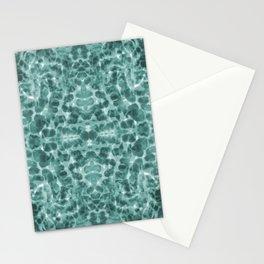 Aqua abstract Stationery Cards