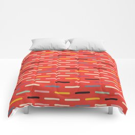 Modern Scandinavian Dash Red Comforters