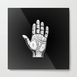 Palm Reading Metal Print