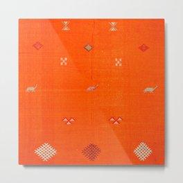 Traditional Anthropologie Moroccan orange Artwork. Art Print Metal Print