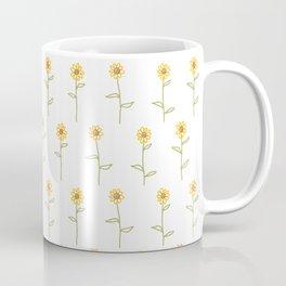 Dainty Sunflower Pattern Coffee Mug