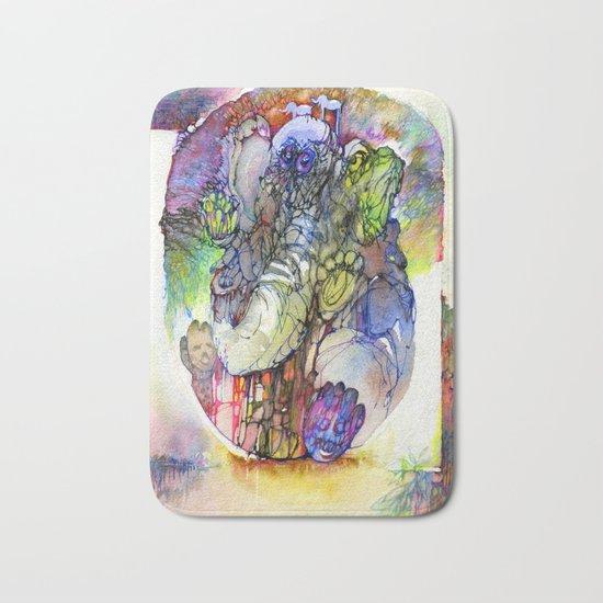Psychedelic elephant Bath Mat