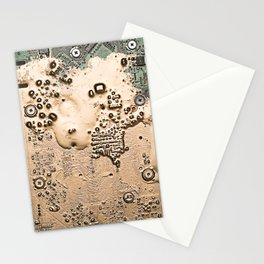 Golden Circuit Stationery Cards