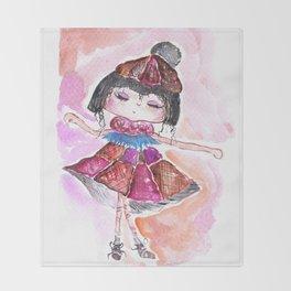 Sweet Little Dancing Girl Throw Blanket