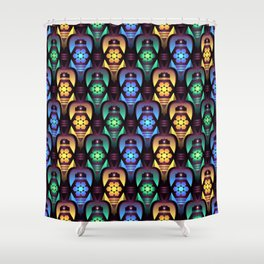 Colorful Moroccan Lanterns Pattern Shower Curtain
