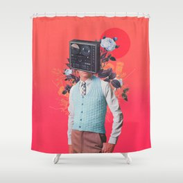 Phonohead Shower Curtain