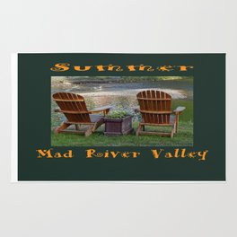 Summer By the River in the Mad River Valley, Vermont Rug