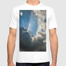 Let Your Name Be Sanctified White MEDIUM Mens Fitted Tee