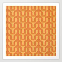 orange factory Art Print
