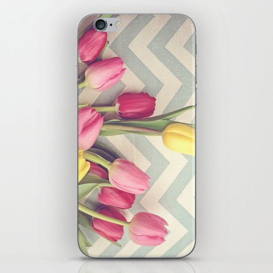 Tulips and Chevrons iPhone & iPod Skin