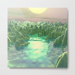 The Green Planet Metal Print