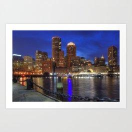 Bright Lights Boston Art Print