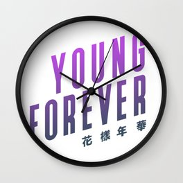 BTS ! Young Forever Wall Clock