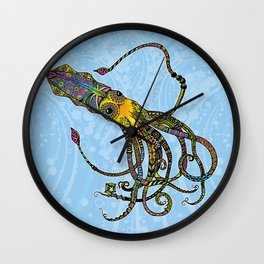 Electric Squid Wall Clock