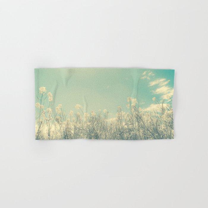 Cotton Candy Wildflowers, Baby Blue Sky Hand & Bath Towel