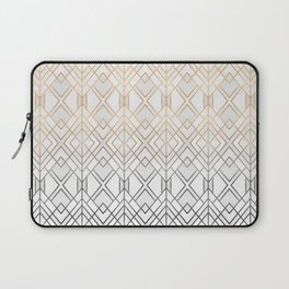 Gold And Grey Geo Laptop Sleeve