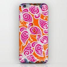 Pink & Orange Grunge Butterfly Pattern iPhone & iPod Skin