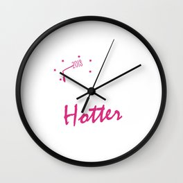 One Degree Hotter 2018 Graduation Day Wall Clock