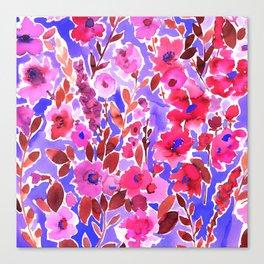 Isla Floral Purple Canvas Print