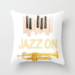 Jazz On Throw Pillow