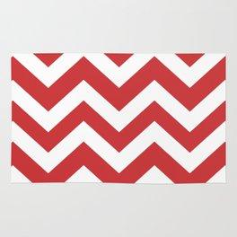 Madder Lake - pink color - Zigzag Chevron Pattern Rug