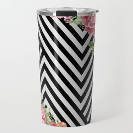 flowers geometric Travel Mug