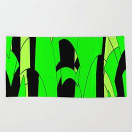 Modern Lime Green Abstract Beach Towel