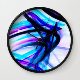 Attitude Abstract Digital Line Painting Wall Clock