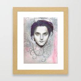 chemical face Framed Art Print