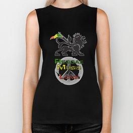Reggae, Music & Love Biker Tank
