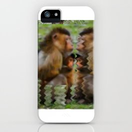 Mother and Child Contemplate Existence  iPhone Case