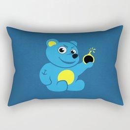 Evil Tattooed Teddy Bear Rectangular Pillow