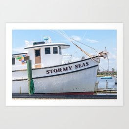 Stormy Seas - Fishing Vessel Art Print