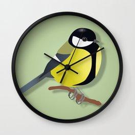 Black tit Wall Clock