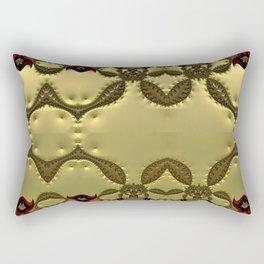 Silky Red and Gold Frieze Rectangular Pillow